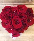 Pearl Red Rose Heart